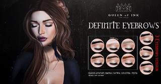 Queen oF Ink - Definite Eyebrows @ULTRA