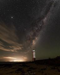 Port Fairy Lighthouse under the night sky. #astro #milkyway #milkywaychasers #galaxy #stars #night # lighthouse #portfaury #pentax #pentaxian #pentaxk1 (nathanmeade_) Tags: astro milkyway milkywaychasers galaxy stars night portfaury pentax pentaxian pentaxk1 lighthouseastromilkywaymw