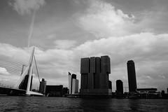Rotterdam - Erasmus (MartijnMol1976) Tags: rotterdam erasmusbrug portofrotterdam haven water maas zuidholland nederland thenetherlands bw black martijnmol city stad brug bridge boot boat tamron tamron1750 tamronspaf1750mmf28xrdiiivcasphericalif sony sonya58 a58 010 erasmus wolken cloud clouds