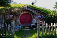 A Hobbit Hole (YY) Tags: newzealand hobbiton movieset shire hole hobbit lordoftherings matamata