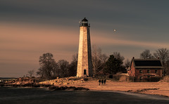 Lighthouse Work 4 (Gary Walters) Tags: people lighthouse classic a7r2 landscape rocks connecticut water a7r ii gary walters seascape sony brown shore harbour five mile point a7rii fivemilepointlighthouse garywalters