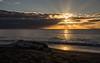 Napier Sunrise (Kiwi-Steve) Tags: napier hawkesbay nz newzealand northisland sunrise sunrays cloud sea beach driftwood nikon nikond7200