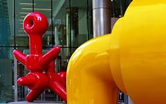 Colours of  Calgary. (Bernard Spragg) Tags: kabukiandsadko calgary colours brifgt red yellow art publicart bright lumix fz1000
