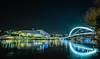 (Laetitia de Lyon) Tags: fujifilmxt10 musée museum muséedesconfluences pont bridge raymondbarre nuit night rhône fleuve river