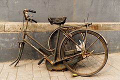 Going Nowhere Soon (Sarah Marston) Tags: bicycle 100bicycles weathered abandoned wrecked rusty beijing china asia hutong sony ilce6300 march 2018