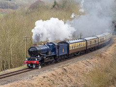 SVR-SPRING-GALA-18-50 (Dreaming of Steam) Tags: 2018 6000class 6023 gwr gwrclass6000 gwrkingclass greatwesternrailway heritage heritagerailways kingclass kingedwardii railway svr severnvalleyrailway springgala steam steamengine train vintage engine locomotive railroad smoke steamlocomotive