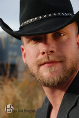 Daimeon (Levi Smith Photography) Tags: cowboy blonde ginger beard blond guy man suit hat grass denver portrait headshot black dude men mens mans fashion clothing handsome eyes gorgeous sexy boy city country sunset