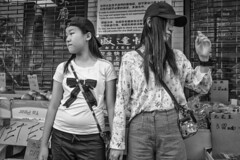 10th St. near Arch St., 2017 (Alan Barr) Tags: philadelphia 2017 10thstreet archstreet chinatown street sp streetphotography streetphoto blackandwhite bw blackwhite mono monochrome city people candid fujifilm fuji x70