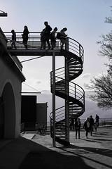The streets of ... Grenoble #51 (richardtostain) Tags: street rue staircase escalier shadow ombre counterlight contrejour black noir bw nb sony a7ii pentax fa limited 43mm f19