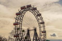The Ferris Wheel in the Vienna Prater (a7m2) Tags: vienna prater riesenrad spas abenteuer vergnügen emperorfranzjosephi austria vergnügungspark tradition geschichte history building