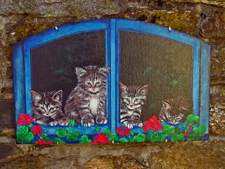 Brolo e i suoi gatti dipinti