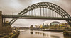 Newcastle upon Tyne. (Ian Emerson) Tags: tyne river bridge millennium arches architecture steel structure water quay waterfront cityscape uk england northumberland outdoor canon hoya filter clouds buildings apartments art venue historic landmark