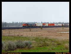 bnsf-fishtrap-wa-4-11-2018a (funnelfan) Tags: train railroad railway shortline locomotive pnw pacificnorthwest bnsf washington fishtrap qtrain es44t4 cw408 cw449 csxt warbonnet rain