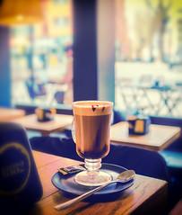 A Cafe Mocha from Cafe Vergnano 1882 ( Holborn - London) (Cross Process Effect)  (Fujifilm X100F) (markdbaynham) Tags: fuji fujifilm fujista x100f fujix transx fujix100f apsc fixedlens primelens compact london londonist londoner capital capitalcity gb uk centrallondon urban metropolis