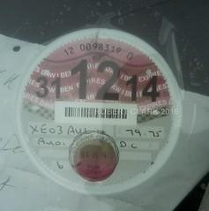 GB Export: XE 03 AUL (Tax disc) (harveywhiterabbit123) Tags: december2014 xe03aul
