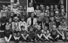 Class photo (theirhistory) Tags: children kids boys school girls teacher jumper sandals shoes shorts trousers wellies rubberboots