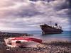 Telamon (kiko_-46-) Tags: paisajescosteros formatoytamaño formato4x3 tamaño40x30 naufragios paisajes barcos lanzarote islascanarias españa