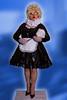 MAID05 Big Bertha Color (bigbertha666) Tags: doll mask corset fetish maskedface maid sissy glasses cateye gloves fetishfashion blackwhite colored lack plastic pvc