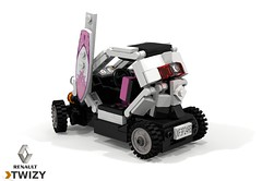 Renault Twizy ZE (lego911) Tags: renault twizy ze zero emissions city auto car moc model miniland lego lego911 ldd render cad povray 2012 electric bev ev vehicle france french