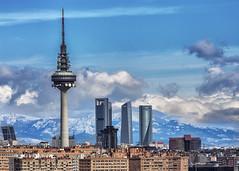 Skyline Madrid (Jose_edit) Tags: silueta aire libre arquitectura nube ciudad cielo madrid cerro tio pio piruli torres sierra