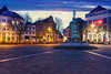 Deventer main square and Wilhelmina fountain at night (Bart Ros) Tags: deventer sky square town old clouds color colorful fountain oldtown travel lights city