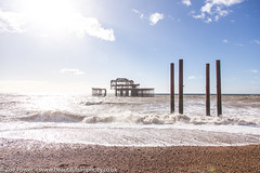 The remains of the West Pier, Brighton *2* (Zoë Power) Tags: westpier beach uk brighton derelict blueskies coast sea seaside