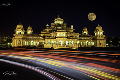 Moonrise at Albert Hall Museum (Alacrity_Of_Shutter) Tags: international landmark town square steeple famous place building exterior old palace city clock tower dome basilica india jaipur architecture albert museum art rajasthan pinkcity travel natgeo long exposure 500px alacrityofshutter wwwfacebookcomalacrityofshutter
