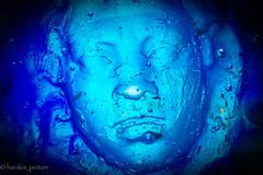 blue face glass (harakis picture) Tags: theblues macromondays glass blue