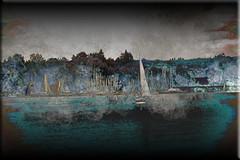 Veleros (seguicollar) Tags: imagencreativa photomanipulación art arte artecreativo artedigital virginiaseguí velero barcos sailboats agua lago puerto mástiles borracoso borrasca