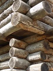 Naperville, IL, Naper Settlement, Historic Park, Fort Payne, Corner Logs (Mary Warren 13.6+ Million Views) Tags: napervilleil napersettlement architecture historic building fort logs wood pattern abstract corner fortpayne