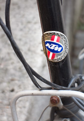 KTM (suzanne~) Tags: bicycle bike headbadge ktm detail 100bicycles steuerkopfemblem