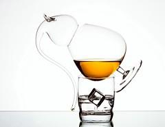 Brandy Glasses (Karen_Chappell) Tags: glass orange brandy booze white liquid stilllife alcohol beverage balance icecube three 3 glasses product