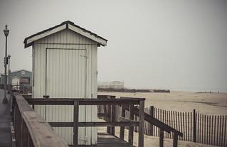 foggy morning beach view (Point Pleasant Beach)