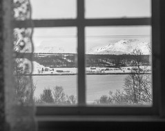 """Room with a view (Bente Nordhagen) Tags: utsikt vindu view mountains sea fjord snow """"smile saturday"""" """"room with a view"""""""