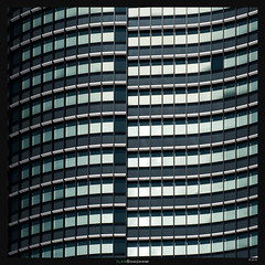 Standing Waves (Ilan Shacham) Tags: abstract windows minimalism pattern wave window texture repetition square fineart fineartphotography tokyo japan architecture tower building geometry