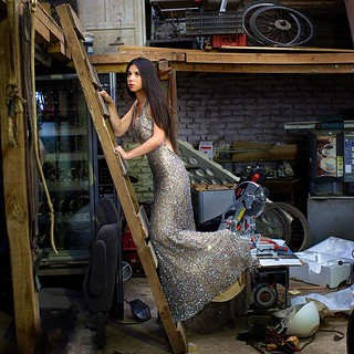 From my Instagram: Be you wherever you are. #Dress #Garbage #Garage #Moment #Sparkling #SweetFifteen