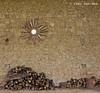 Upload 500: Composition with mirror and firewood. (Ivan van Nek) Tags: moncorneilgrazan gers france mirror firewood wall frankreich frankrijk 32 spiegel zon sun soleil nikon nikond7200 d7200 muur midipyrénées occitanie
