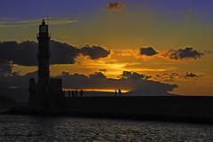 Chania - Sunset at the Old Venetian Harbour (FBK1956) Tags: sonnenuntergang 2016 canon canoneos canoneos5dmarkiii chania griechenland kreta sunset harbour hafen leuchtturm licht light sun sonne κρήτη χανιά