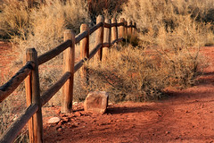 Desert Fence (arbyreed) Tags: arbyreed fence woodenfence desert desertfence redsoil deadplants dontfencemein sanjuancountyutah