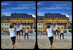 City Beach Volleyball 3-D / CrossView / Stereoscopy (Stereotron) Tags: saxony sachsen reichenbach vogtland beach volleyball sports downtown europe germany deutschland crosseye crosseyed crossview xview cross eye pair freeview sidebyside sbs kreuzblick 3d 3dphoto 3dstereo 3rddimension spatial stereo stereo3d stereophoto stereophotography stereoscopic stereoscopy stereotron threedimensional stereoview stereophotomaker stereophotograph 3dpicture 3dglasses 3dimage twin casio exilim tonemapping