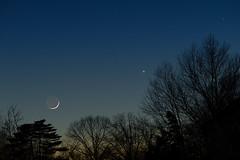 Earthshine Conjunction (pablo_blake) Tags: conjunction moon mercury venus luna crescentmoon d5500 nikon