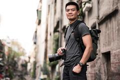 Phat Ngo - Photographer and Food Lover (ArnabKGhosal) Tags: streetportraits strobist photographer londonphotographer portrait lighting hanoi railwaystreet rail tracks nikon nikon50mm18 vietnam travel godoxad200