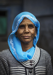 Portrait (Harshal Orawala) Tags: blu jodhpur india 121clicks portrait colours lady oldlady
