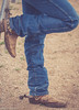 Resting Cowboy Boot on A Corral (Maureen Medina) Tags: maureenmedina artizenimages cowboy ranch stable boots spurs worn jeans