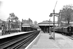 Blackheath railway station London SE3.  1962. (Ledlon89) Tags: blackheath london se3 railwaystation railway station trains 1962 1960s oldlondon