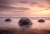 A Round 3 (ajecaldwell11) Tags: ankh beach blue boulders caldwell clouds longexposure moeraki newzealand otago purple rock sea southisland tide water waves
