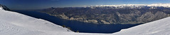 Lago di Garda / Monte Baldo (GerhardQ) Tags: fz1000 panorama gardasee lagodigarda montebaldo sonne schnee berge