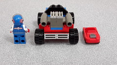 LEGO Rocket Racer's Car Back - by DRY1994 (DRY1994) Tags: lego racers game rocket racer minifigures series 18 car 2018 redwhite blueracecar 40 race rr moc
