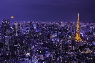The moon in Tokyo
