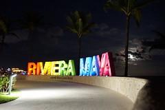 Barcelo Riviera Maya sign, Mexico (mattk1979) Tags: caribbean mexico cancun quintanaroo rivieramaya tulum barcelo hotel sign colourful night dark moon